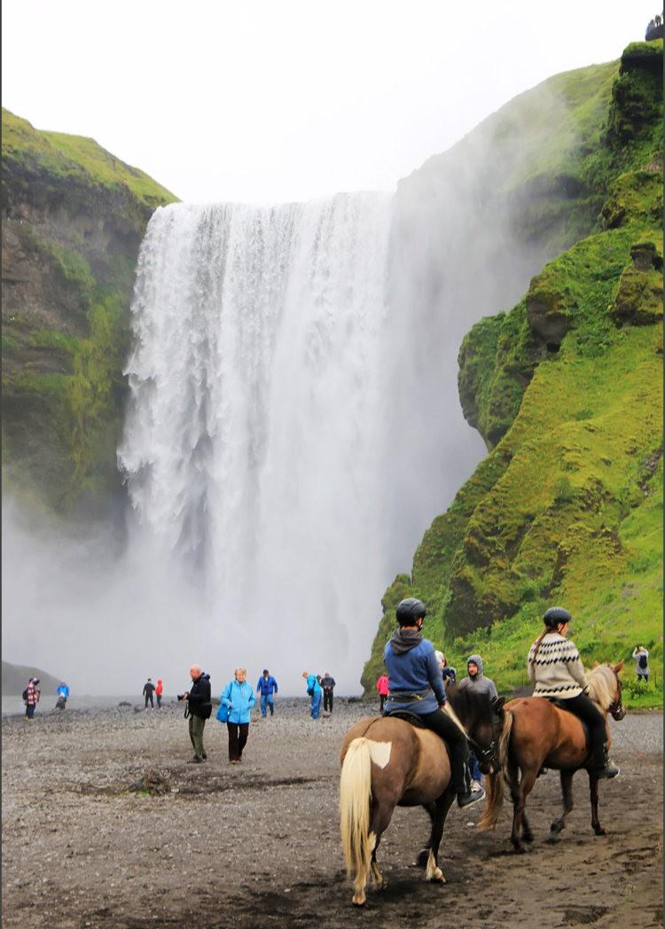冰岛的两条瀑布与黑海滩_图1-18