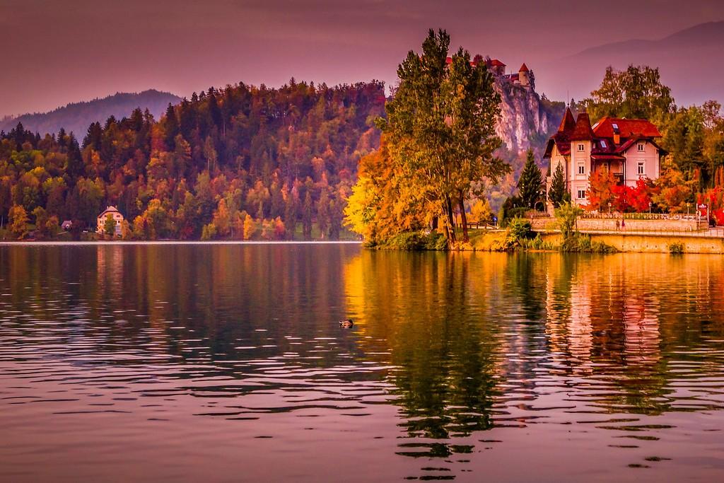 斯洛文尼亚布莱德湖(Lake Bled),迷人景色_图1-9