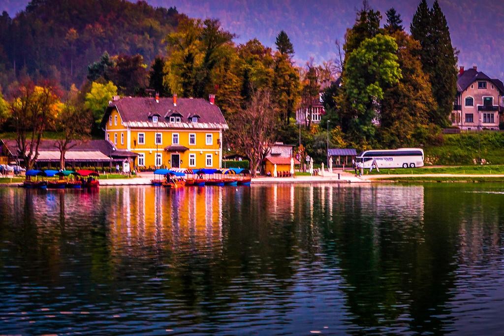 斯洛文尼亚布莱德湖(Lake Bled),迷人景色_图1-3