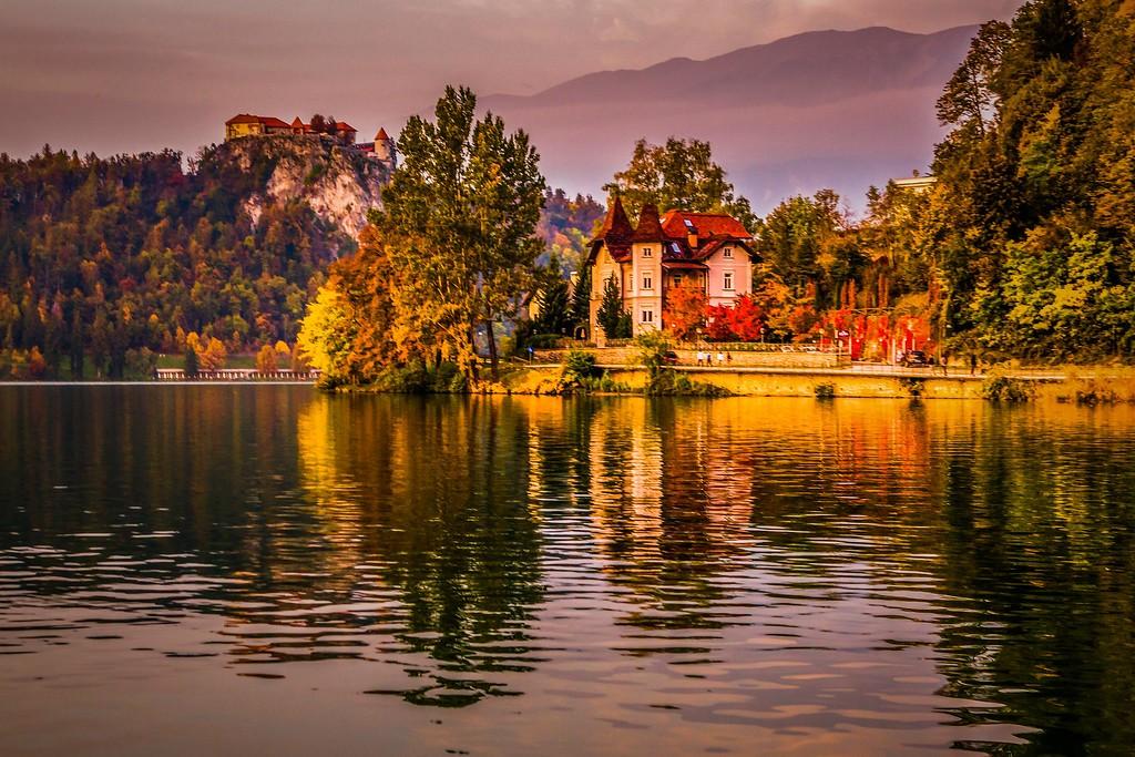斯洛文尼亚布莱德湖(Lake Bled),迷人景色_图1-7