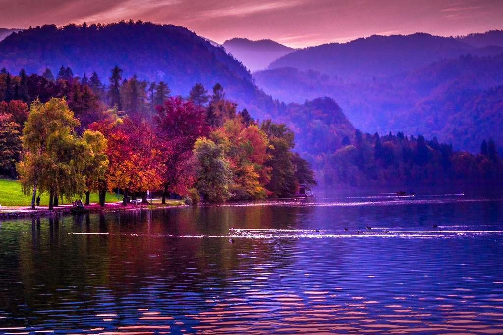 斯洛文尼亚布莱德湖(Lake Bled),迷人景色_图1-8