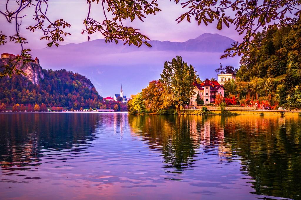 斯洛文尼亚布莱德湖(Lake Bled),迷人景色_图1-1