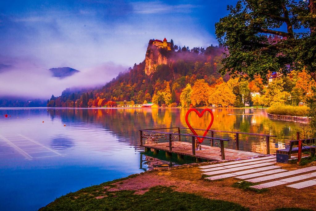 斯洛文尼亚布莱德湖(Lake Bled),迷人景色_图1-13