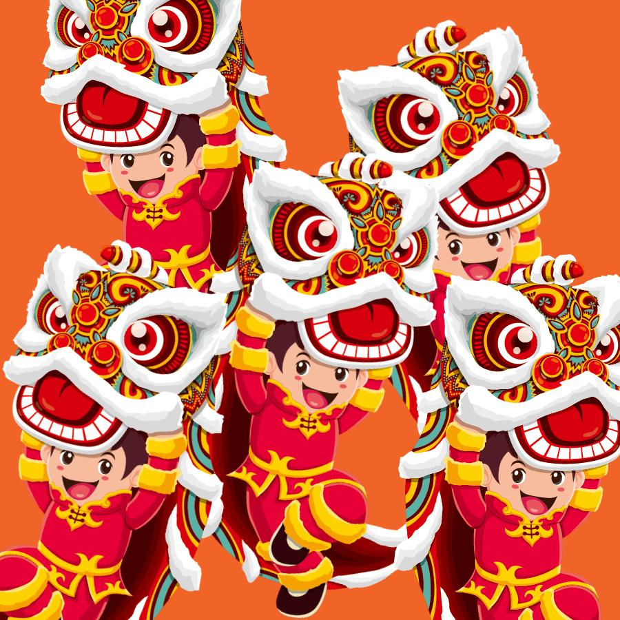 【晓鸣拼图】乐娃舞狮庆新年_图1-2