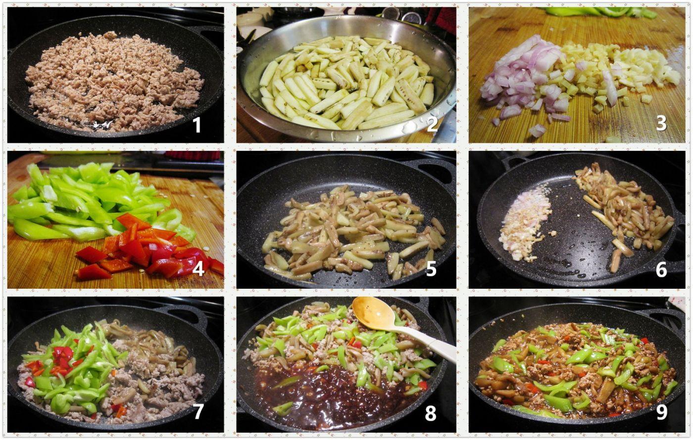 肉末茄子菜椒_图1-2