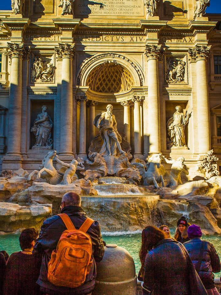 罗马特雷维喷泉(Trevi Fountain),闻名遐迩_图1-4