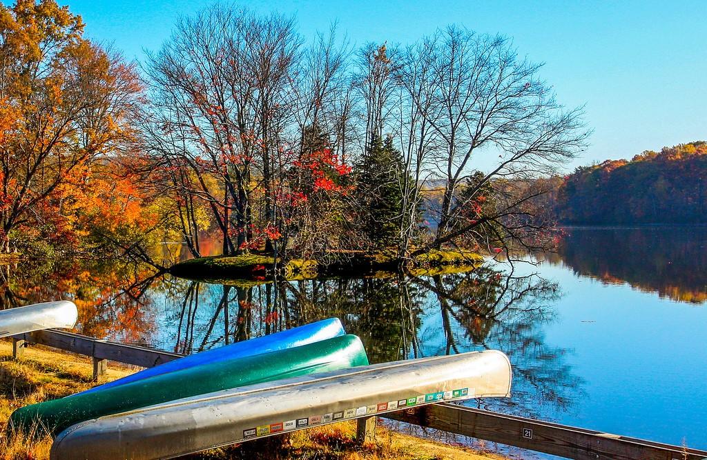 宾州 French Creek State Park,岸边小船_图1-14