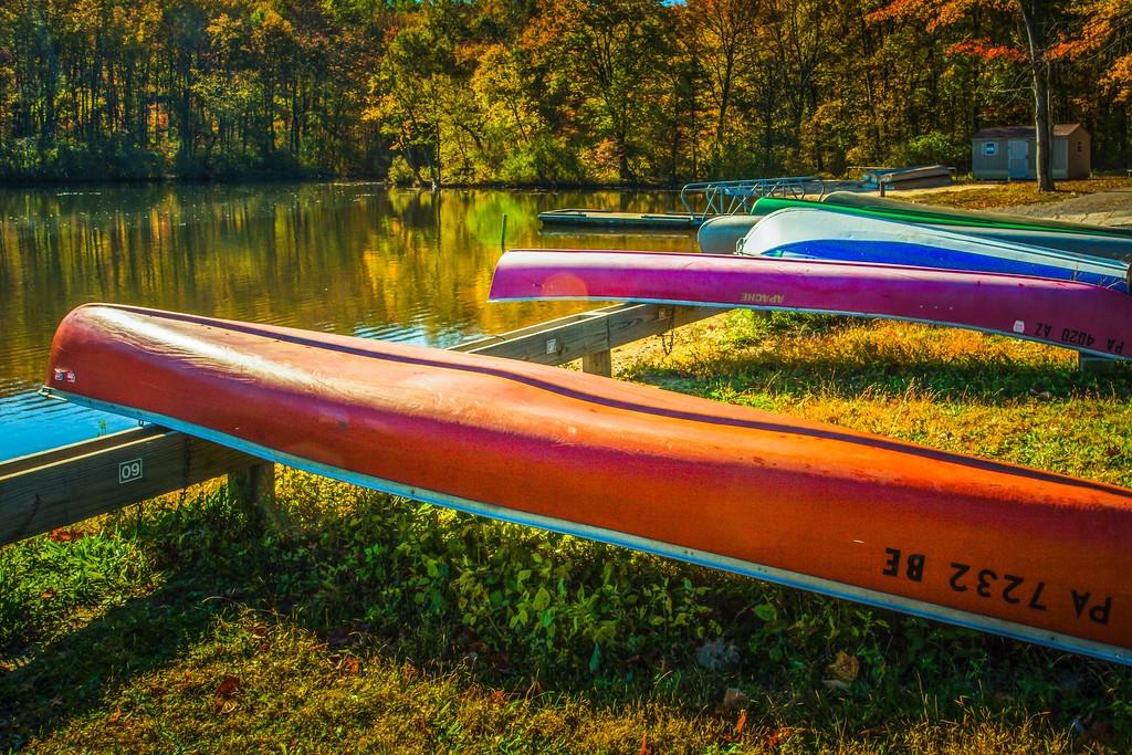 宾州 French Creek State Park,岸边小船_图1-10
