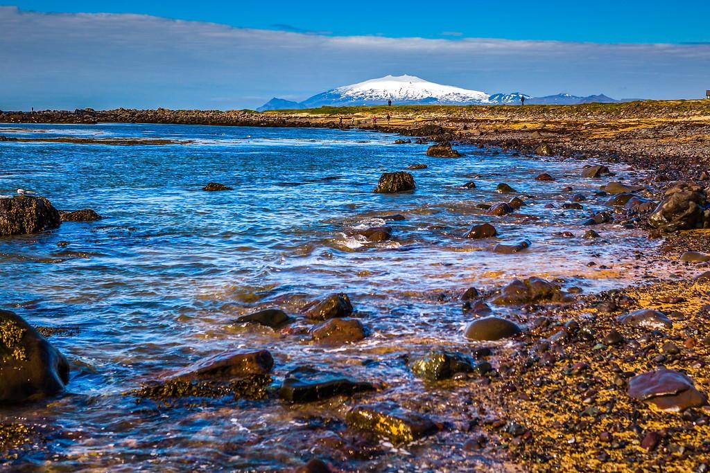冰岛风采,礁石海水还有雪山_图1-25