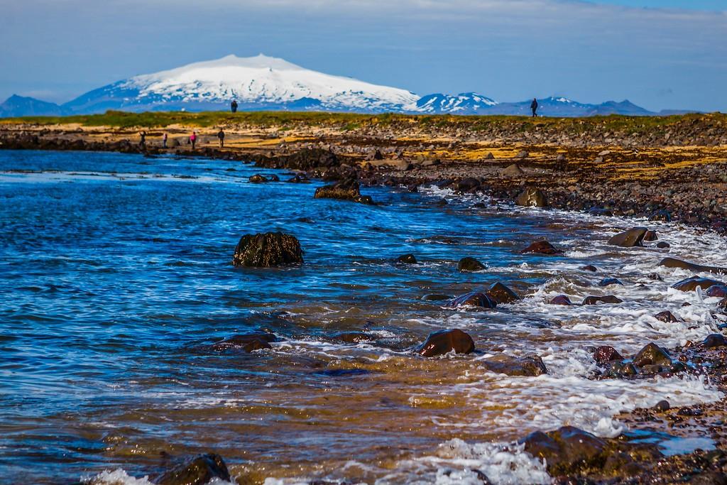 冰岛风采,礁石海水还有雪山_图1-28