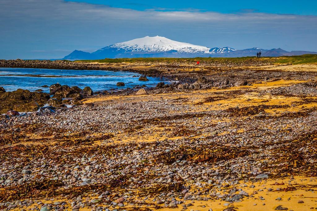 冰岛风采,礁石海水还有雪山_图1-26