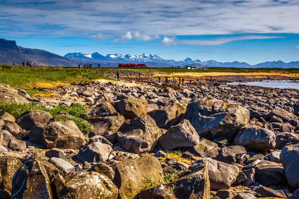 冰岛风采,礁石海水还有雪山_图1-17