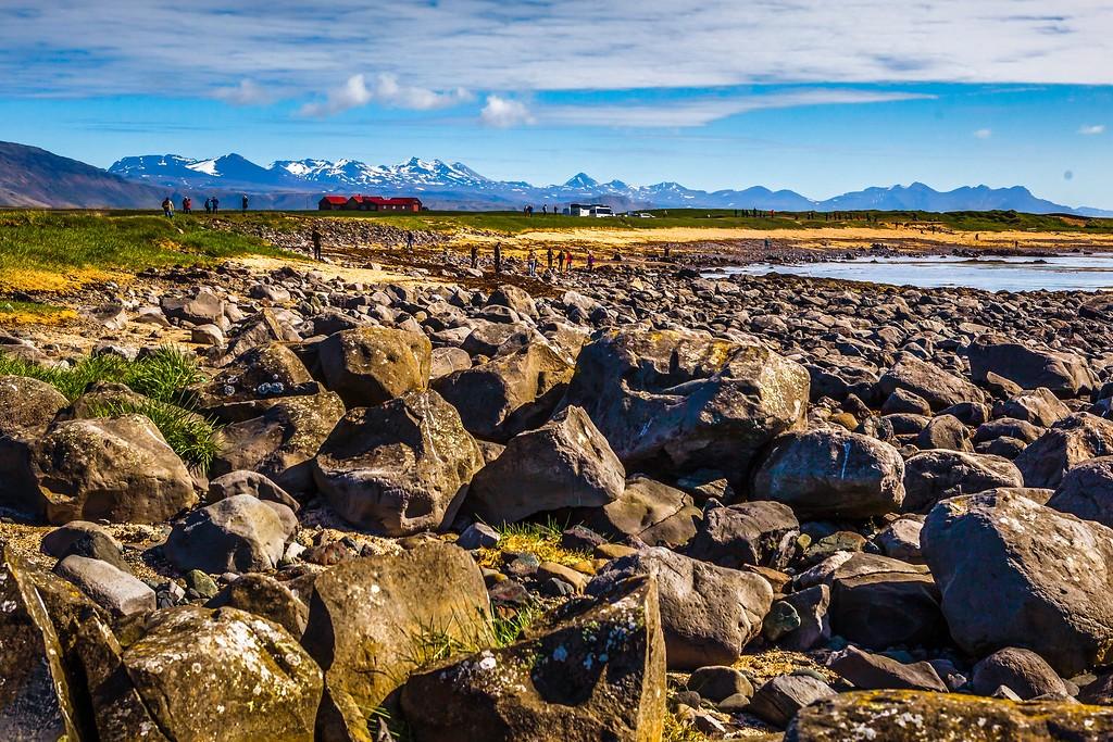 冰岛风采,礁石海水还有雪山_图1-21