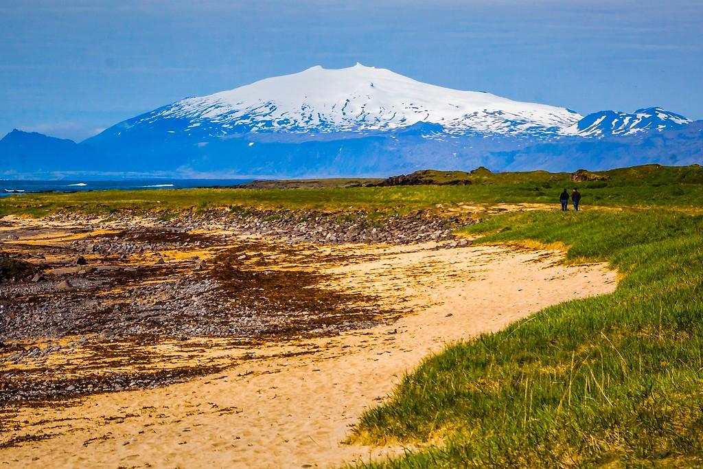 冰岛风采,礁石海水还有雪山_图1-18