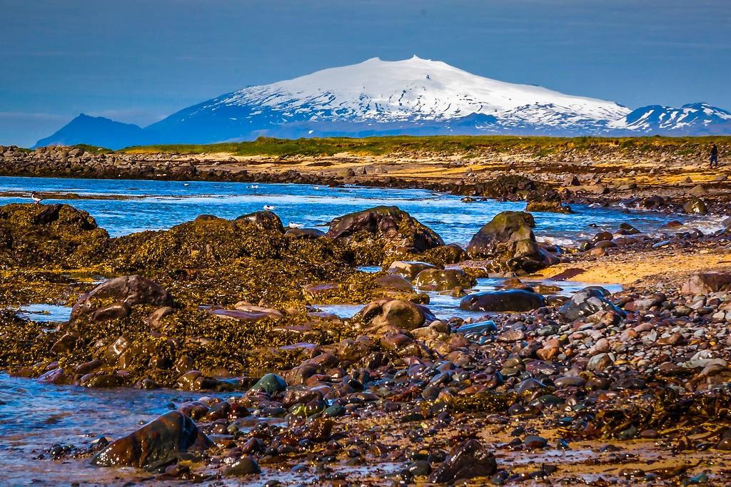 冰岛风采,礁石海水还有雪山_图1-20
