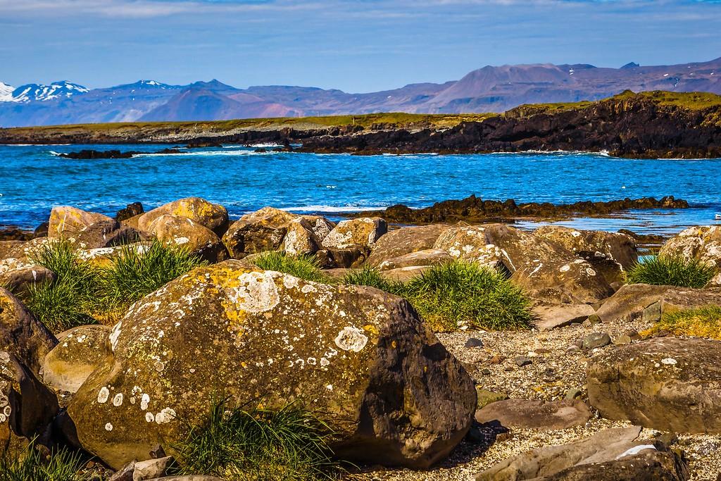 冰岛风采,礁石海水还有雪山_图1-16