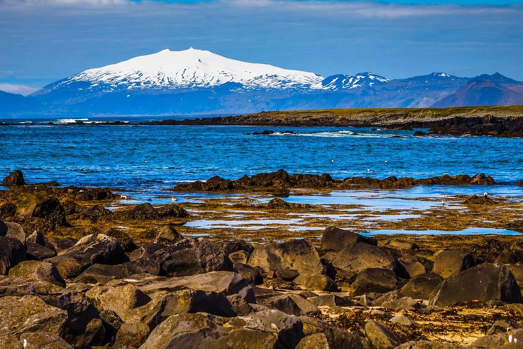 冰岛风采,礁石海水还有雪山_图1-15
