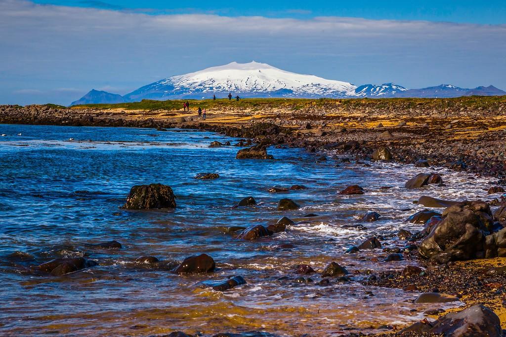 冰岛风采,礁石海水还有雪山_图1-1