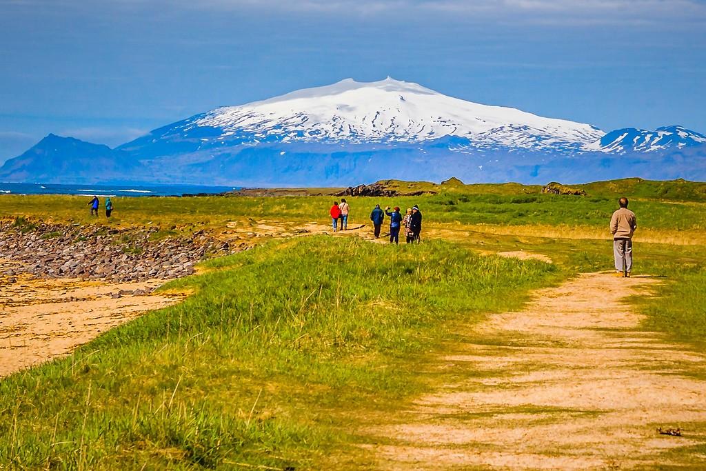 冰岛风采,礁石海水还有雪山_图1-5