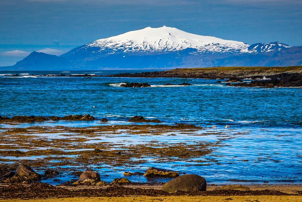 冰岛风采,礁石海水还有雪山_图1-6