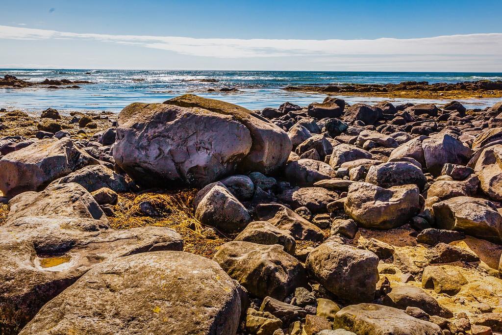 冰岛风采,礁石海水还有雪山_图1-7