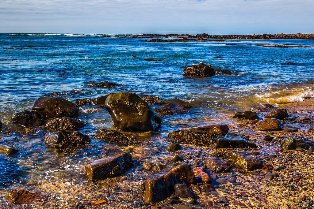 冰岛风采,礁石海水还有雪山_图1-8