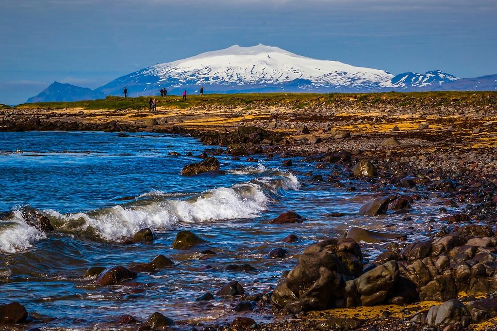 冰岛风采,礁石海水还有雪山_图1-9