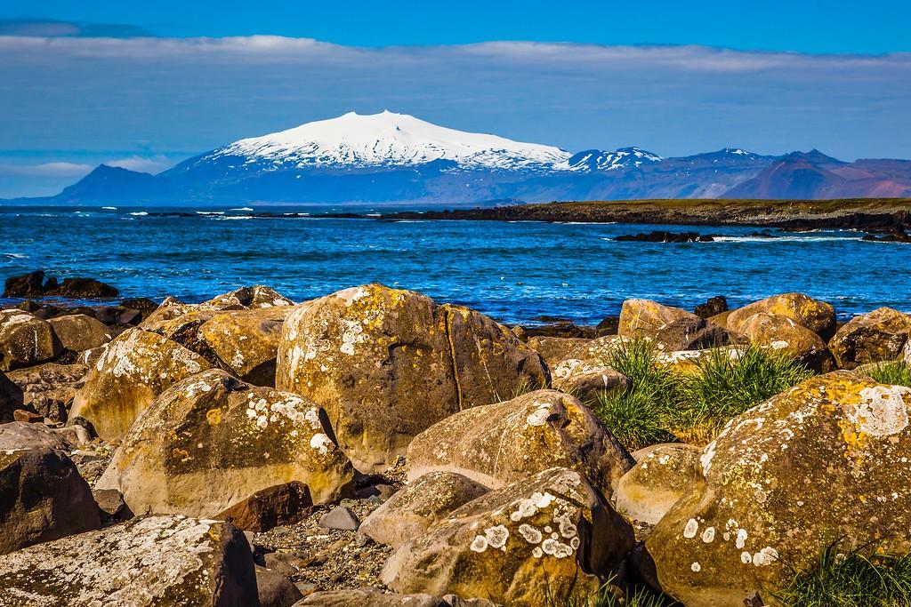 冰岛风采,礁石海水还有雪山_图1-29