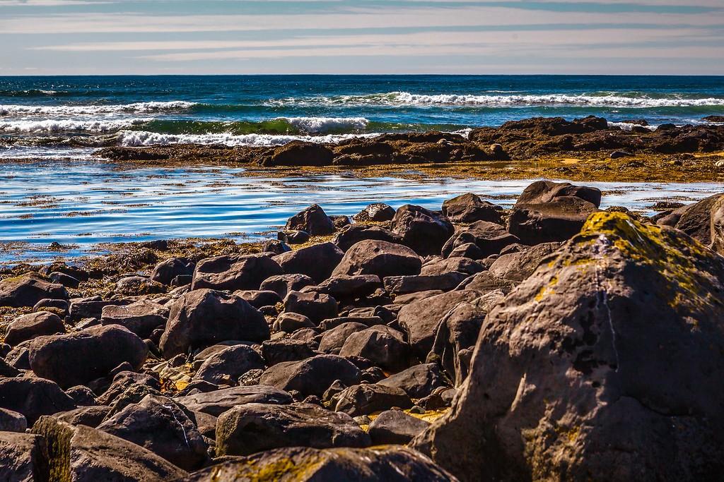 冰岛风采,礁石海水还有雪山_图1-30