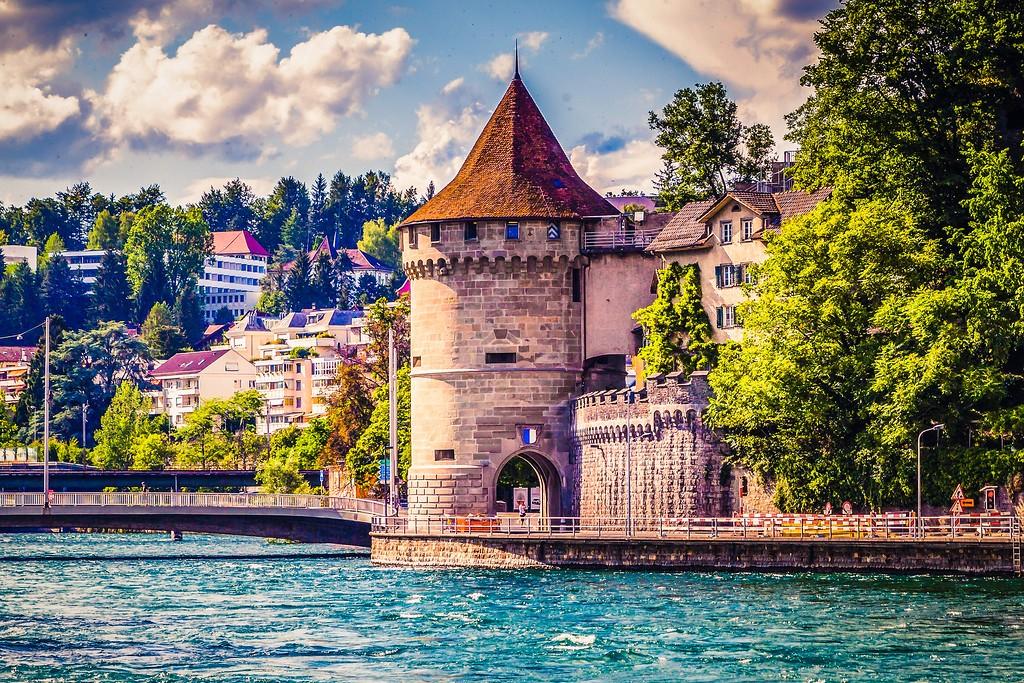 瑞士卢塞恩(Lucerne),漂亮小城_图1-1