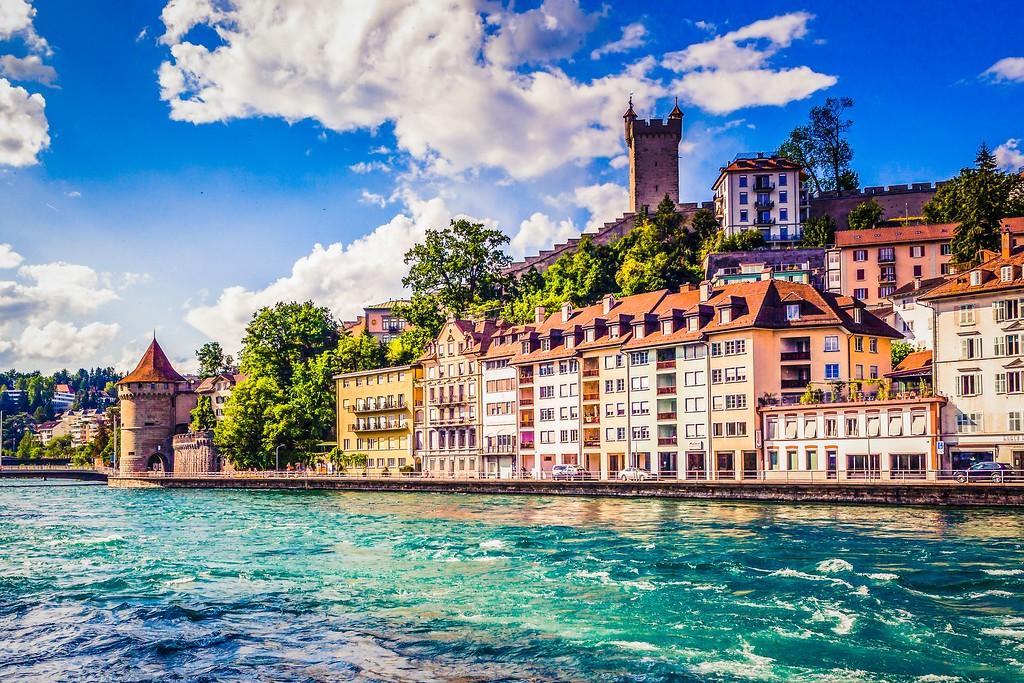 瑞士卢塞恩(Lucerne),漂亮小城_图1-3
