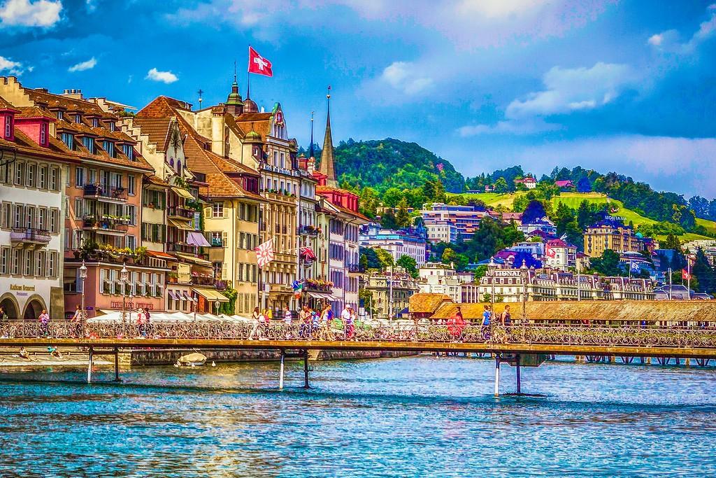 瑞士卢塞恩(Lucerne),漂亮小城_图1-4