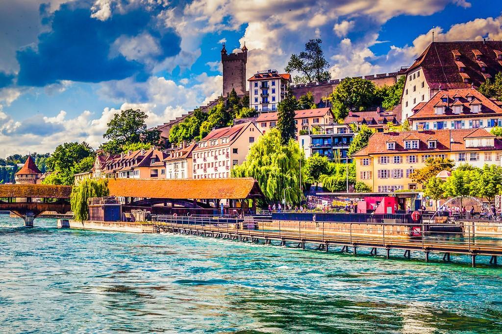 瑞士卢塞恩(Lucerne),漂亮小城_图1-5