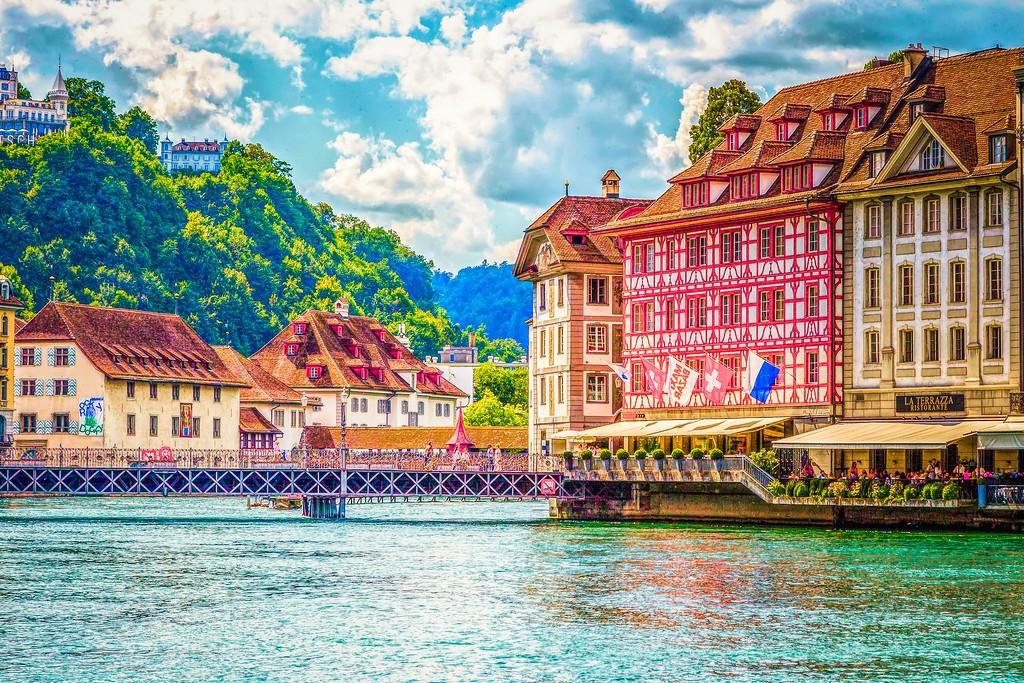 瑞士卢塞恩(Lucerne),漂亮小城_图1-7