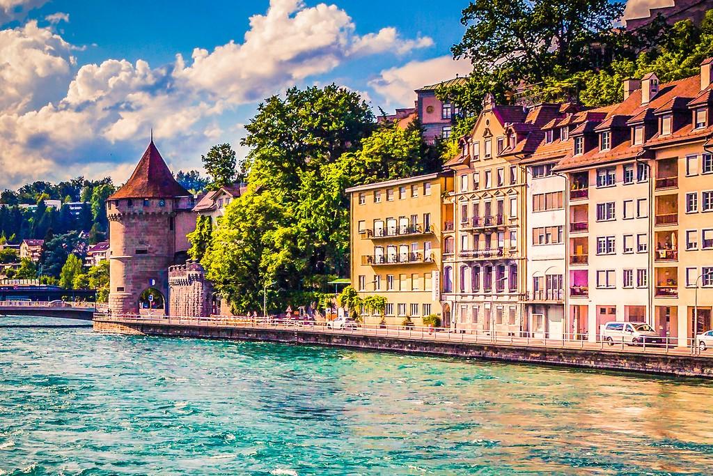 瑞士卢塞恩(Lucerne),漂亮小城_图1-9