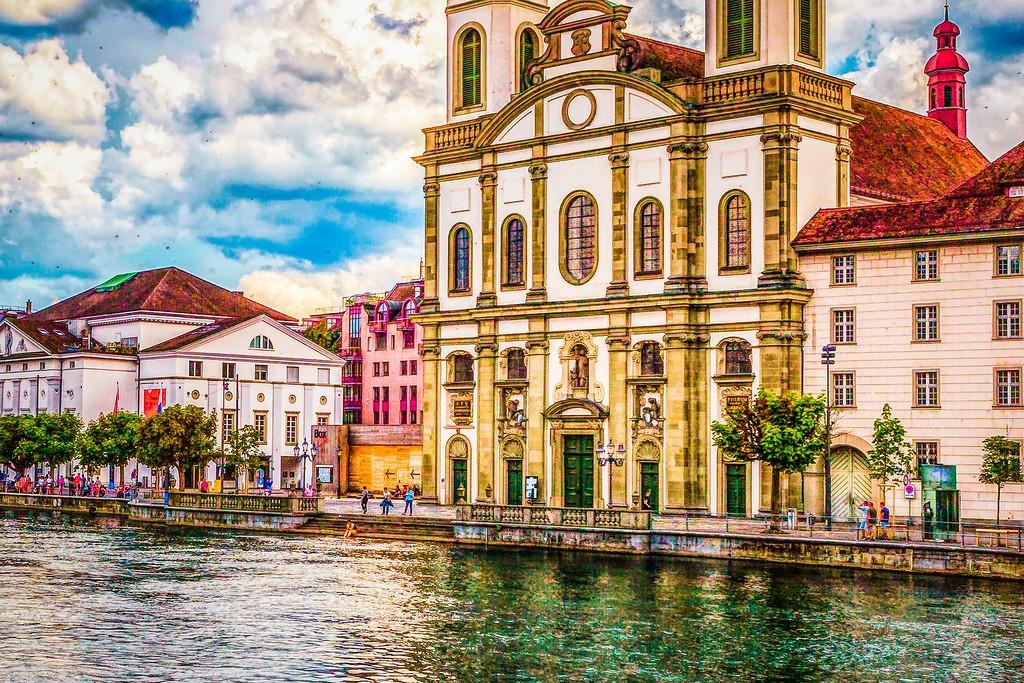 瑞士卢塞恩(Lucerne),漂亮小城_图1-15