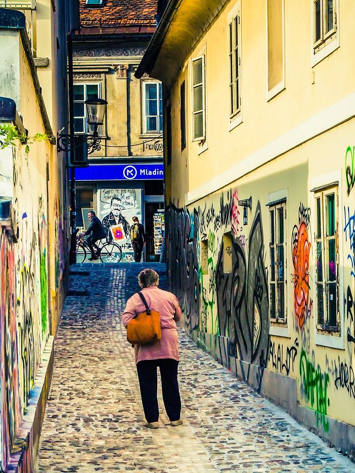 斯洛文尼亚首都卢布尔雅那(Ljubljana), 小巷文化_图1-16