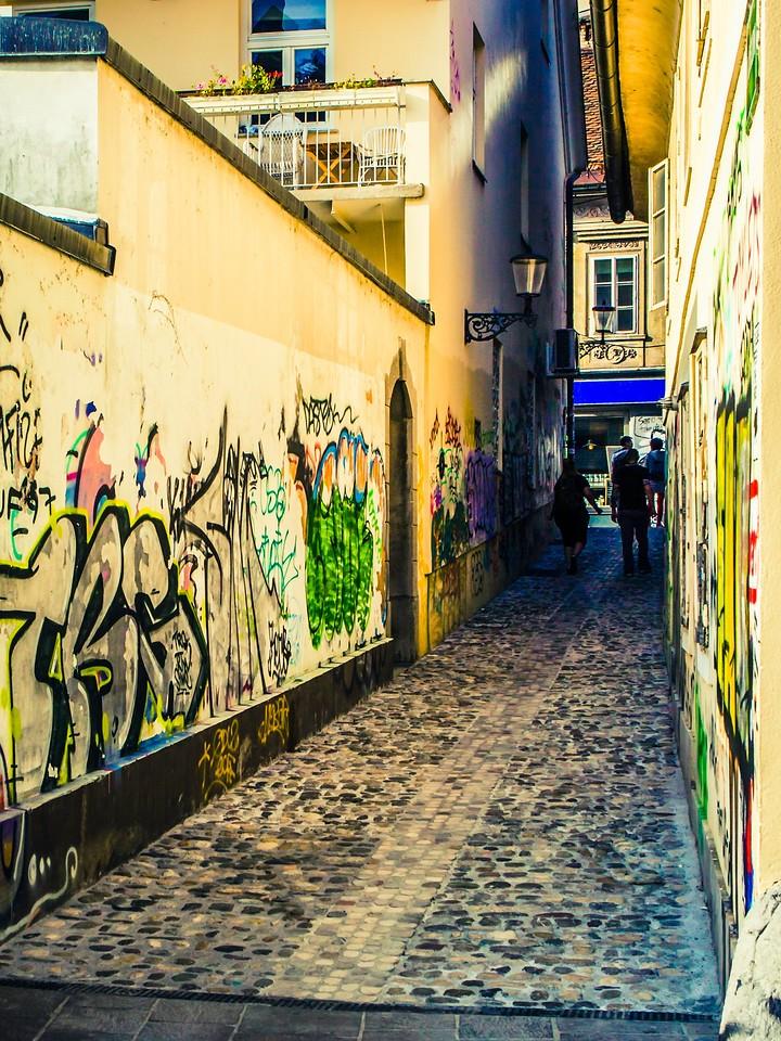 斯洛文尼亚首都卢布尔雅那(Ljubljana), 小巷文化_图1-21