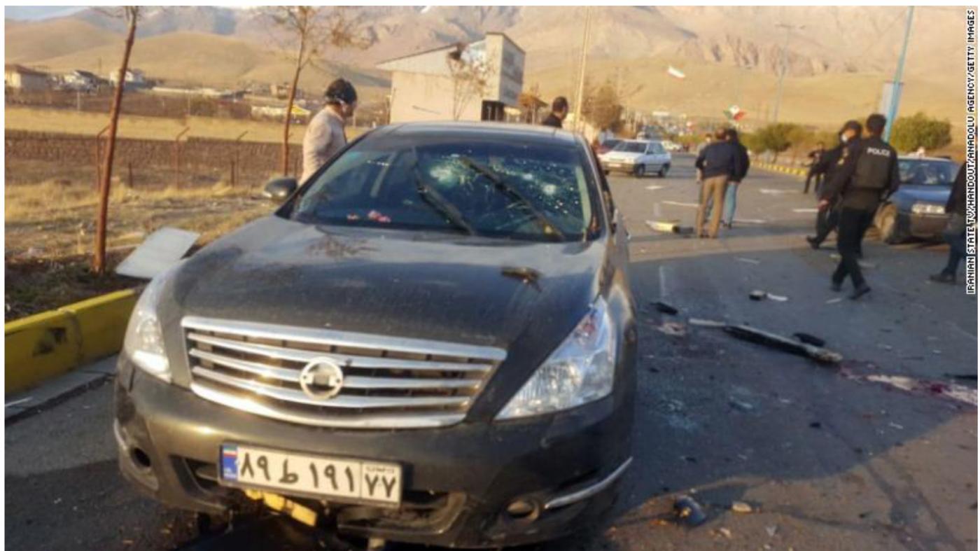 伊朗顶级核武器专家遇刺身亡_图1-2