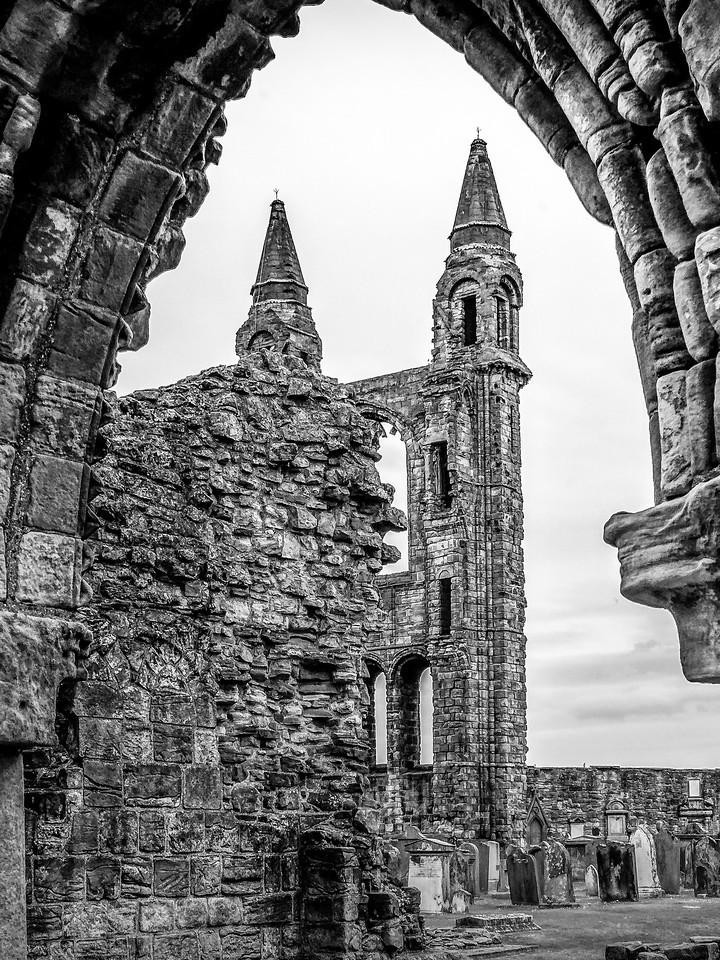 苏格兰圣安德鲁主教座堂(Cathedral of St Andrew)遗迹,曾经的辉煌 ..._图1-16