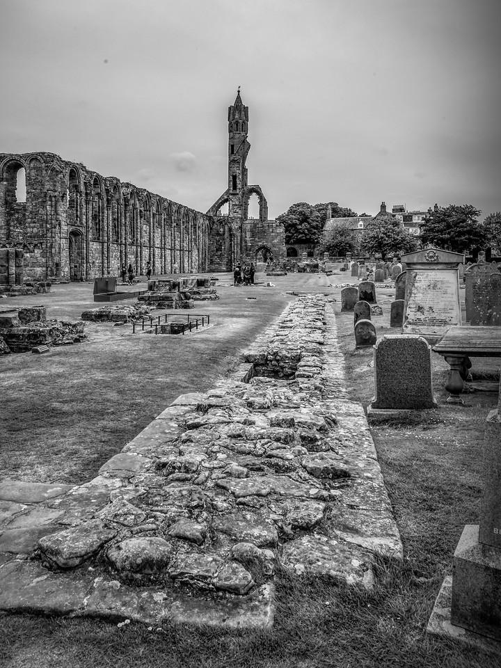 苏格兰圣安德鲁主教座堂(Cathedral of St Andrew)遗迹,曾经的辉煌 ..._图1-18