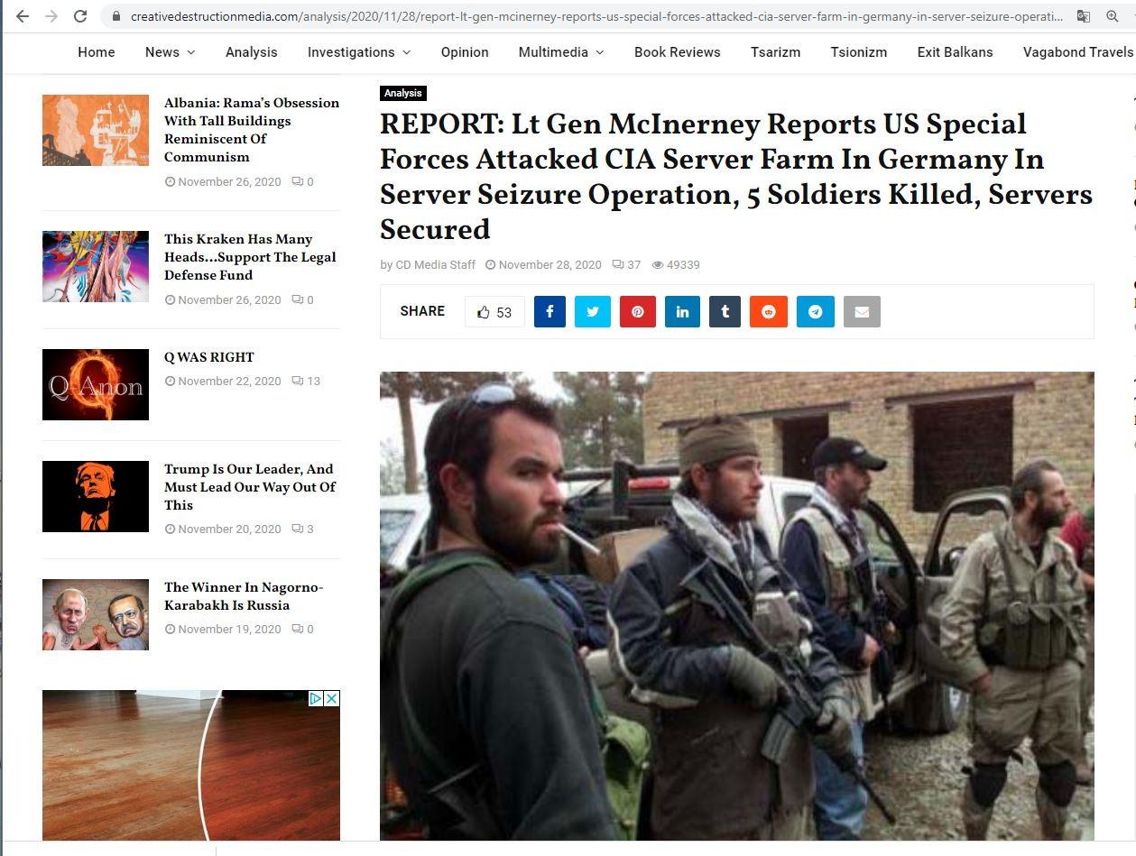 """辟谣""""特种部队与CIA交火,缴获服务器""""_图1-2"""