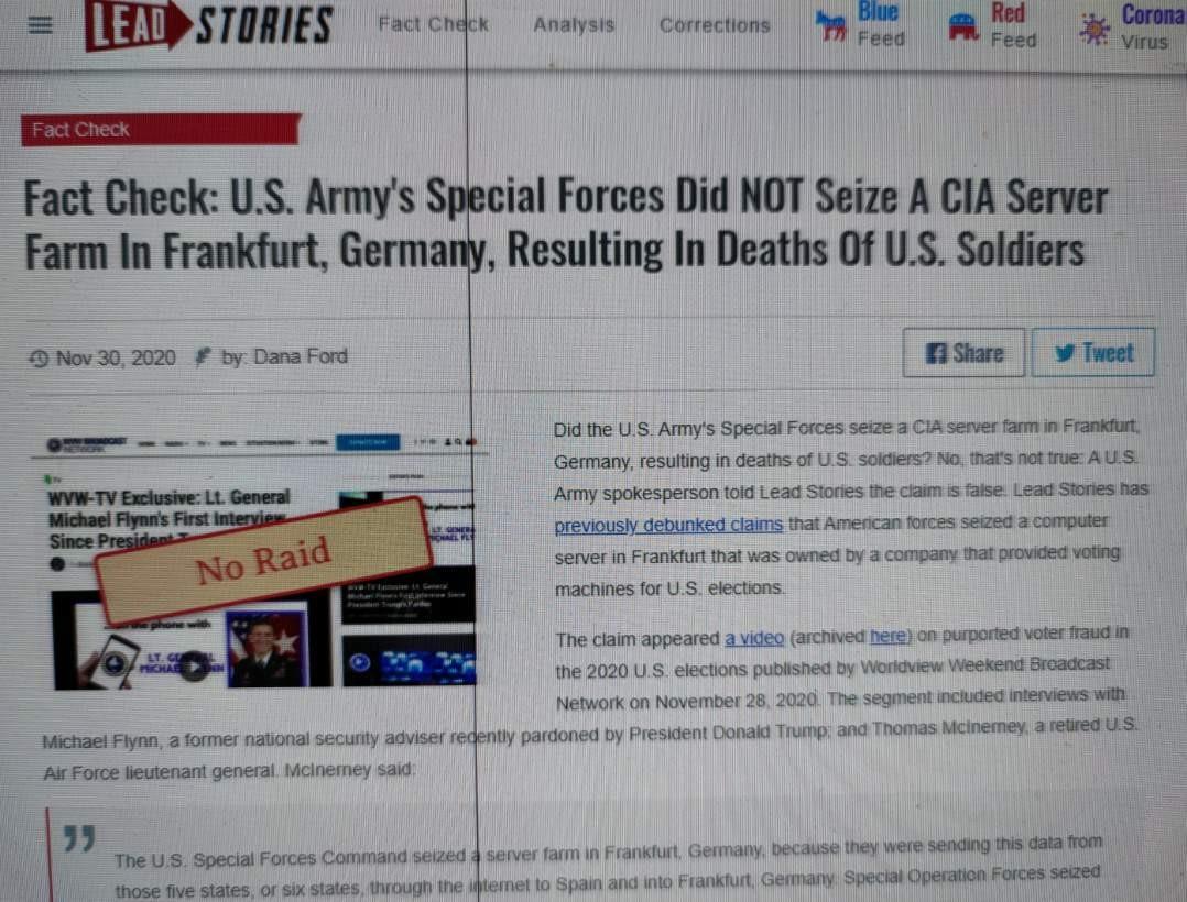 """辟谣""""特种部队与CIA交火,缴获服务器""""_图1-4"""