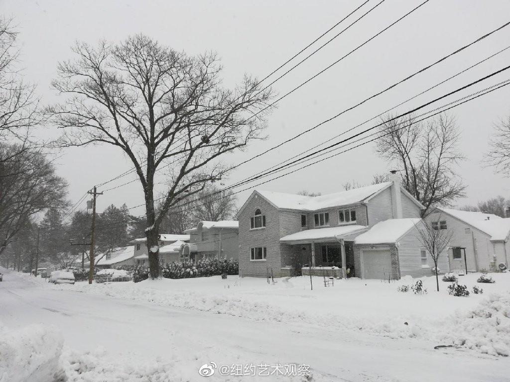 2020年12月16日纽约暴雪,郊区银装素裹_图1-1