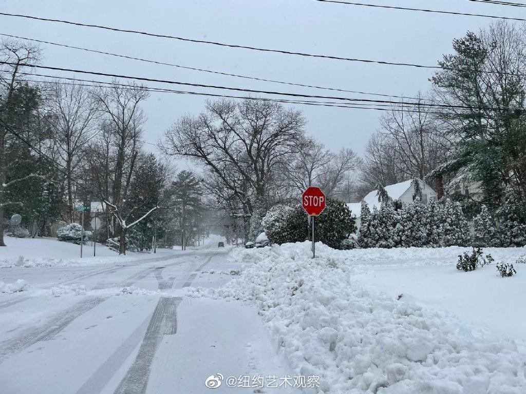 2020年12月16日纽约暴雪,郊区银装素裹_图1-2