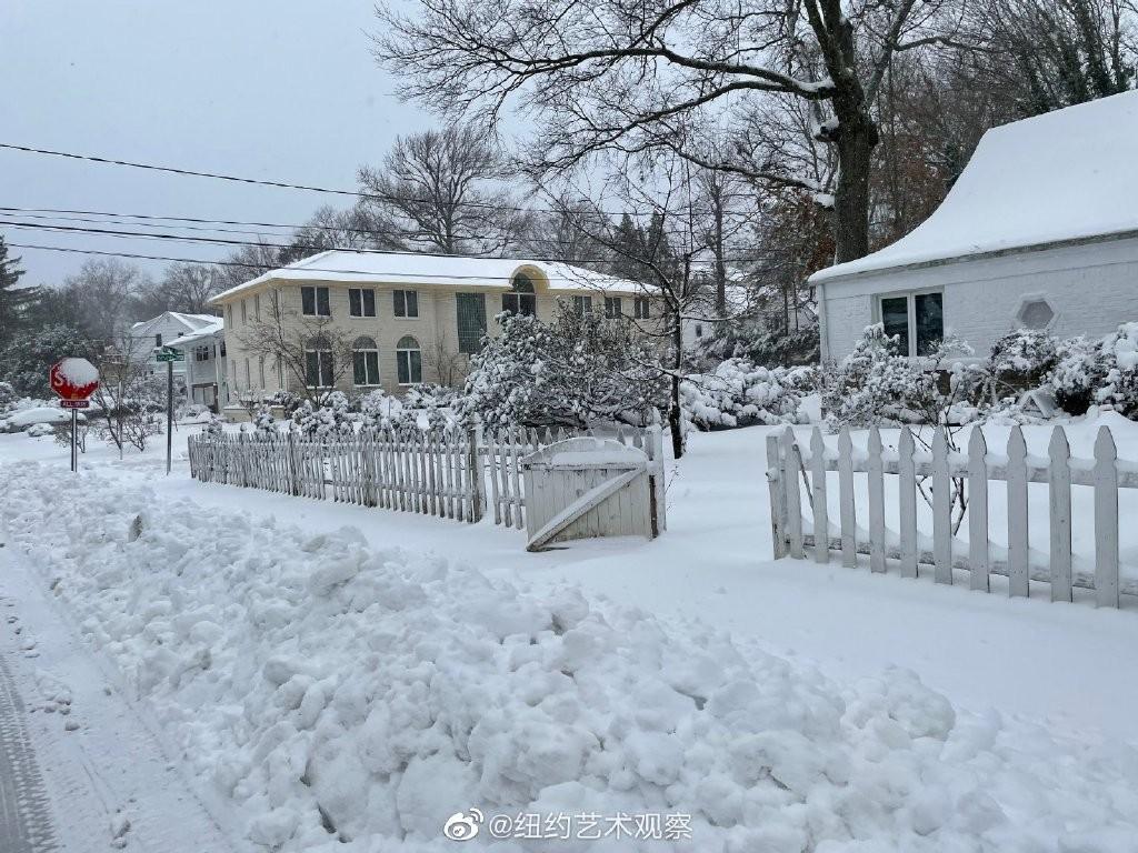 2020年12月16日纽约暴雪,郊区银装素裹_图1-9