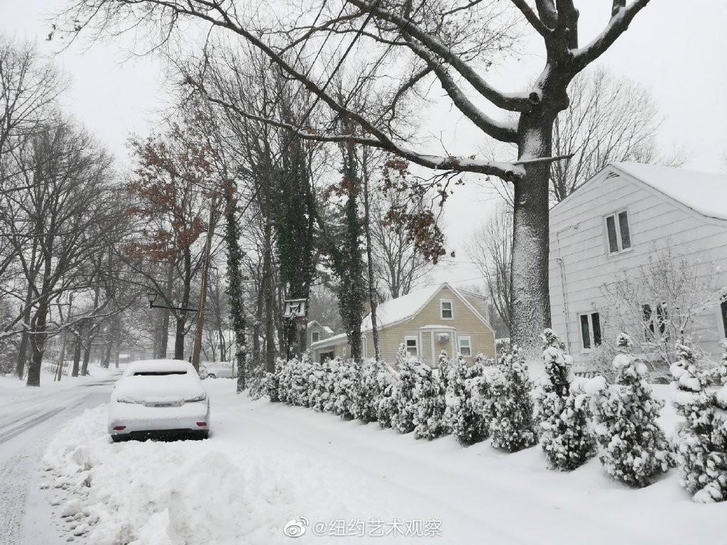 2020年12月16日纽约暴雪,郊区银装素裹_图1-8