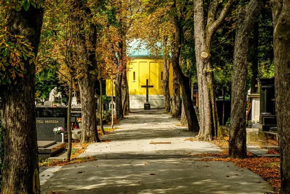 在萨格勒布参观米罗戈日公墓_图1-8