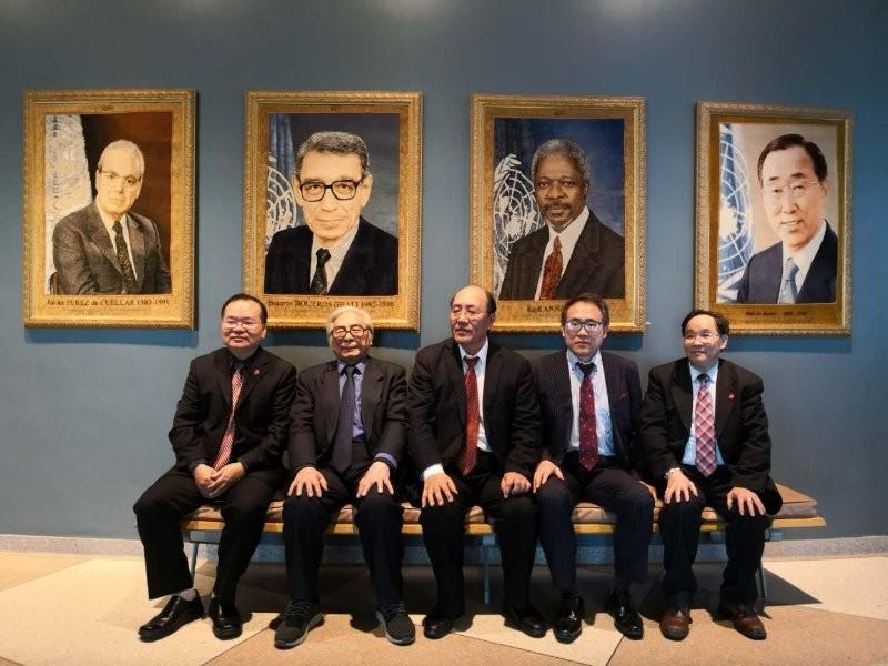 美国书协主席李兆银受聘安阳学院书法艺术院高级顾问_图1-4