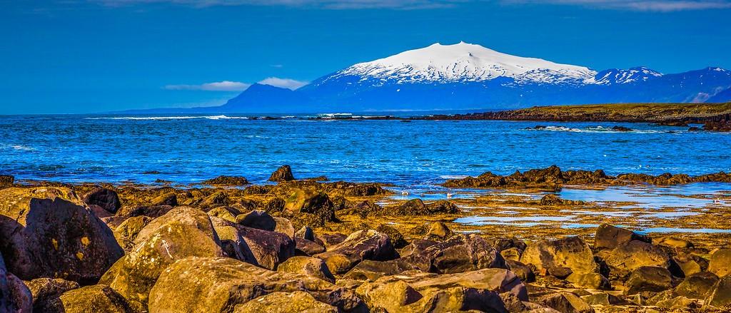 冰岛风采,远望雪山_图1-38